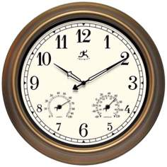 "The Craftsman Indoor Outdoor 18"" Wide Round Wall Clock"