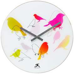 "Early Bird 15 3/4"" Wide Round Wall Clock"