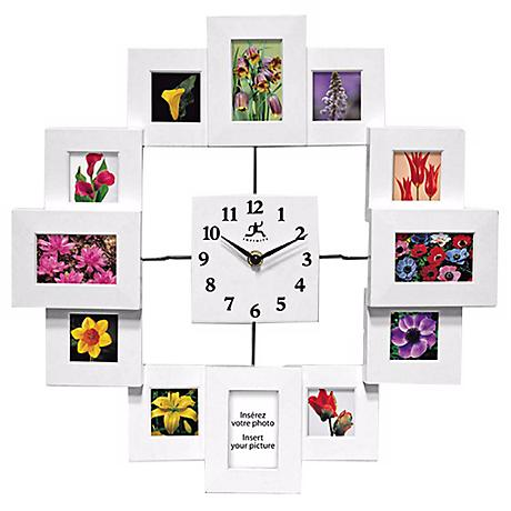 "Time Capsule 15 3/4"" Squared Wall Clock"
