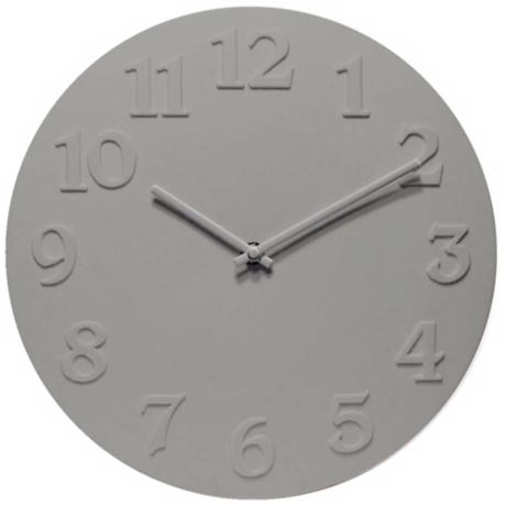 "Vogue 11 3/4"" Wide Round Gray Wall Clock"