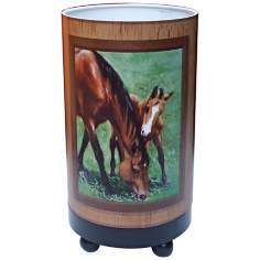 "Mare and Foal 11"" High Accent Lamp"