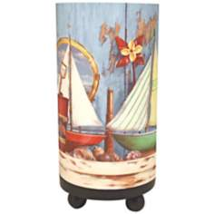 "Ships 11"" High Accent Lamp"