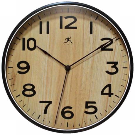 "Arbor I 12 1/2"" Wide Round Wall Clock"