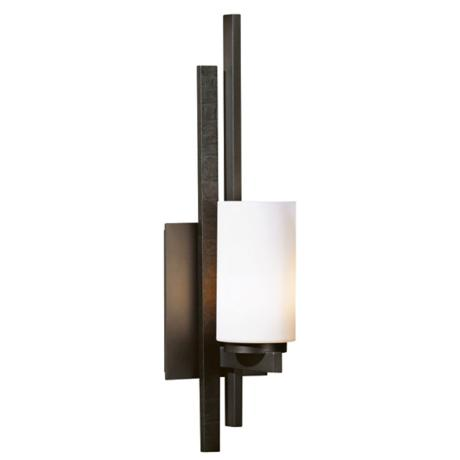 Hubbardton Forge Ondrian Opal Glass Left Wall Sconce