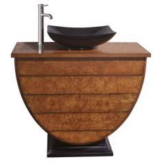 "Legacy Golden Burl Finish 40"" Wide Sink Vanity"