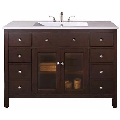 "Lexington Light Espresso 49"" Wide Sink Vanity"