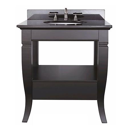 "Milano Black Finish 31"" Wide Sink Vanity"