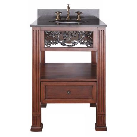 "Napa Dark Cherry Finish 24"" Wide Sink Vanity"