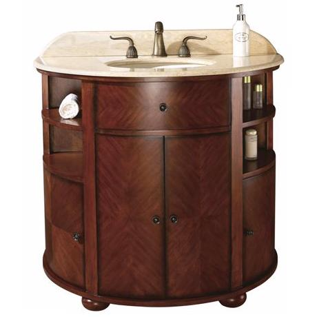 "Oxford Dark Oak Finish 39"" Wide Sink Vanity"