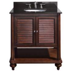 "Tropica Antique Brown 31"" Wide Sink Vanity"
