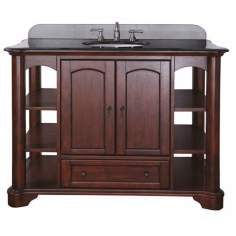 "Vermont Mahogany Finish 49"" Wide Sink Vanity"