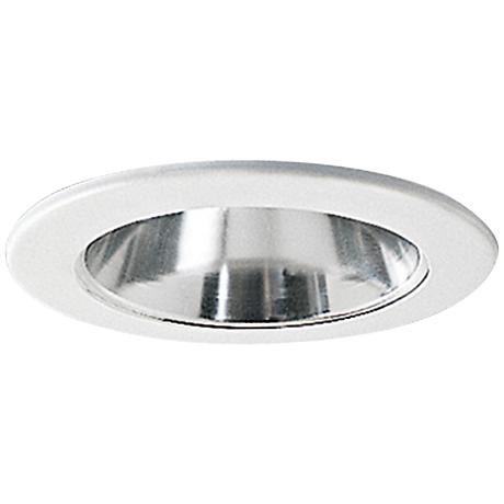 "Nora 4"" Wide Chrome and White Adjustable Recessed Light Trim"