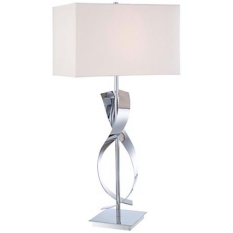 "George Kovacs Polished Nickel Finish 25"" High Table Lamp"