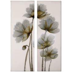 "Uttermost Set of 2 Floral Glow 60"" Wide Wall Art"