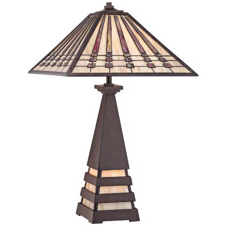 "Quoizel Tiffany Style 24"" High Table Lamp"