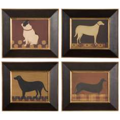 "Uttermost Set of 2 Good Dog 15 1/4"" Wide Wall Art"