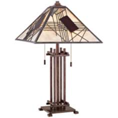 "Quoizel Russell Tiffany Style 22 1/2"" High Table Lamp"