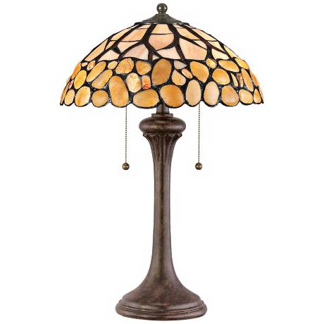 "Quoizel Patton Tiffany Style 24"" High Table Lamp"