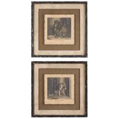 "Uttermost Set of 2 Loyal Companion 22 1/4"" Wide Wall"