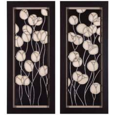 "Uttermost Set of 2 Abstract Blossom 41 1/4"" High Wall Art"
