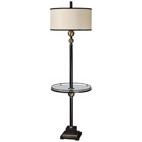 uttermost revolution end table floor lamp r7743. Black Bedroom Furniture Sets. Home Design Ideas