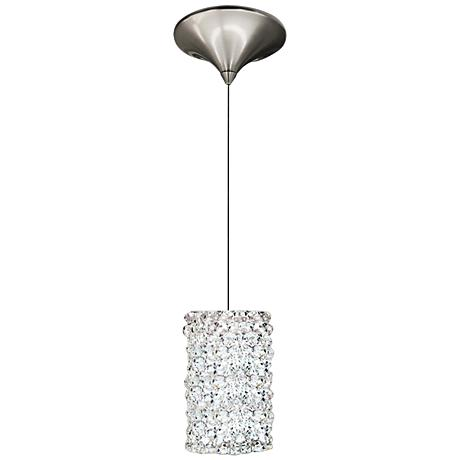 "WAC Haven 3"" Wide LED White Diamond Nickel Mini Pendant"