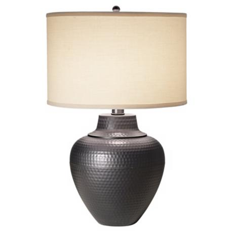 Maison Loft Hammered Pot Table Lamp