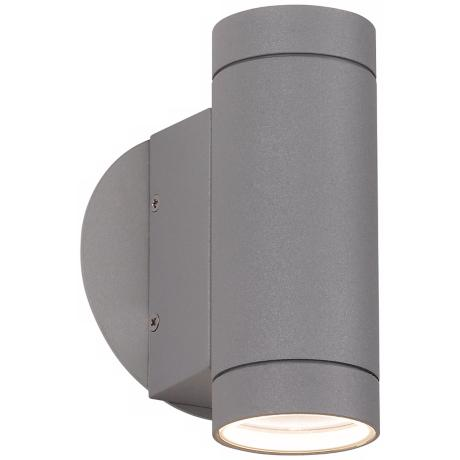 Matte Silver Up and Down Wall Light
