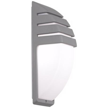 Matte Silver Contemporary Wall Light
