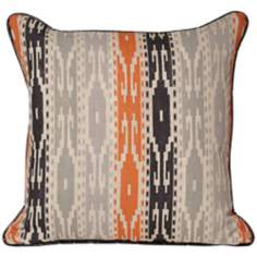 Tunisia Printed Striped Throw Pillow