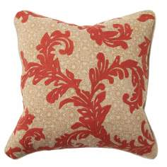Orange Vine Embroidered Throw Pillow