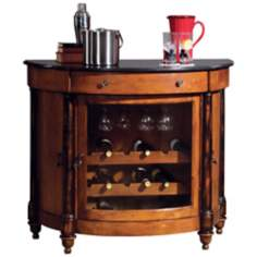 Howard Miller Merlot Valley Demilune Bar Cabinet