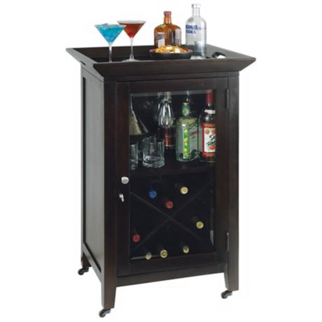 Howard Miller Butler Black Coffee Bar Cabinet
