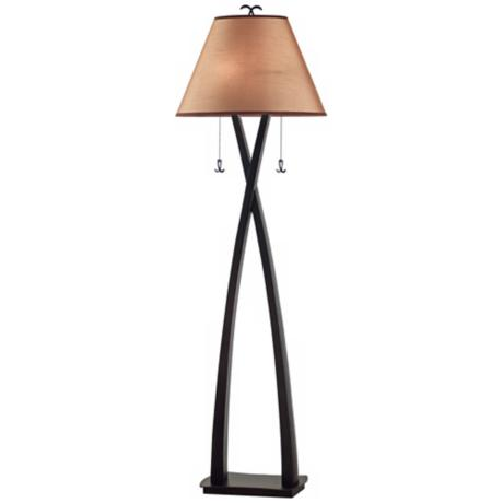 Kenroy Home Wright Twin-Pull Oil Rubbed Bronze Floor Lamp