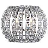 "Crystal and Chrome 10 1/4"" Wide Pocket Wall Sconce"