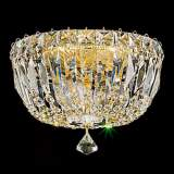 "Schonbek Petit Gold Hand-Cut Crystal 8"" Wide Ceiling Light"