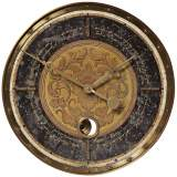 "Leonardo Script Black 18"" Wide Round Wall Clock"