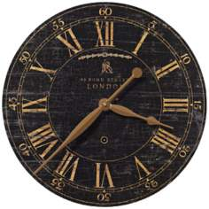 "Bond Street Black 18"" Wide Round Wall Clock"
