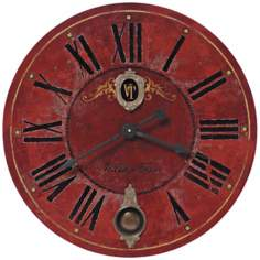 "Villa Tesio Red 30"" Wide Round Wall Clock"