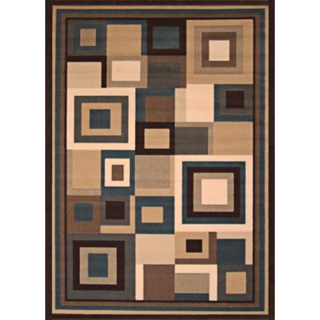 Dark Room Blues Area Rug