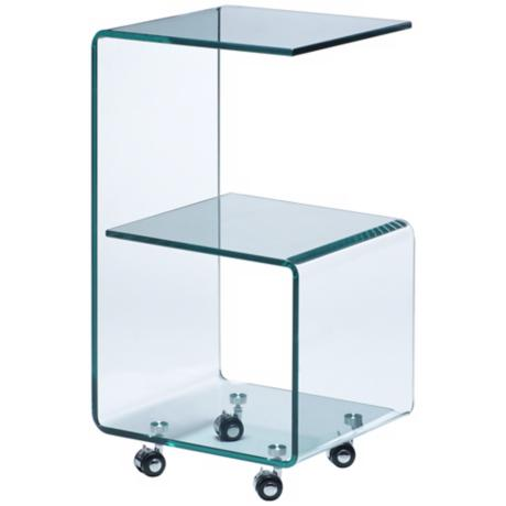 Zuo Trek Clear Side Table