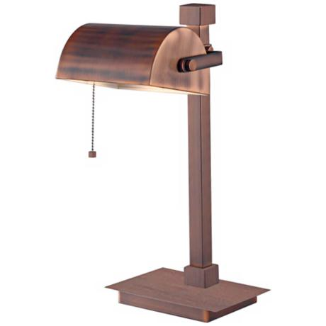 Kenroy Welker Copper Finish Banker Piano Desk Lamp