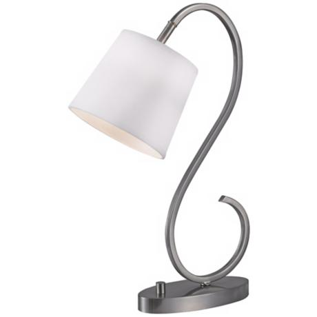 Kenroy Wilson Brushed Steel Finish Desk Lamp