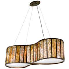 Varaluz Affinity Natural Capiz Shell 4-Light Pendant
