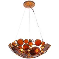 Varaluz Fascination Kolorado Reclaimed Glass Bowl Pendant