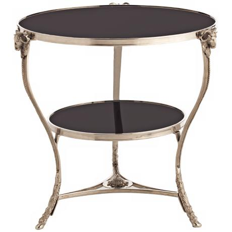 Arteriors Home Aries Polished Nickel & Marble Table