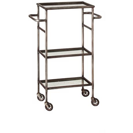Arteriors Home Leon Iron and Mirror Bar Cart