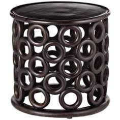 Arteriors Home Kamal Hand-Carved Wood SideTable