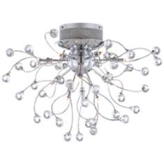 "Possini Euro Crystal Balls 23 1/2"" Wide Ceiling Light"