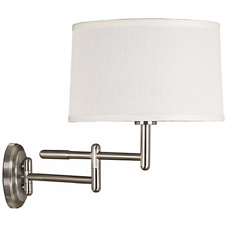 Kenroy Home Theta Brushed Steel Plug-In Swing Arm Wall Light